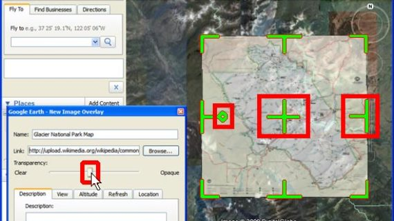 GPS integration – Google Earth and image overlays